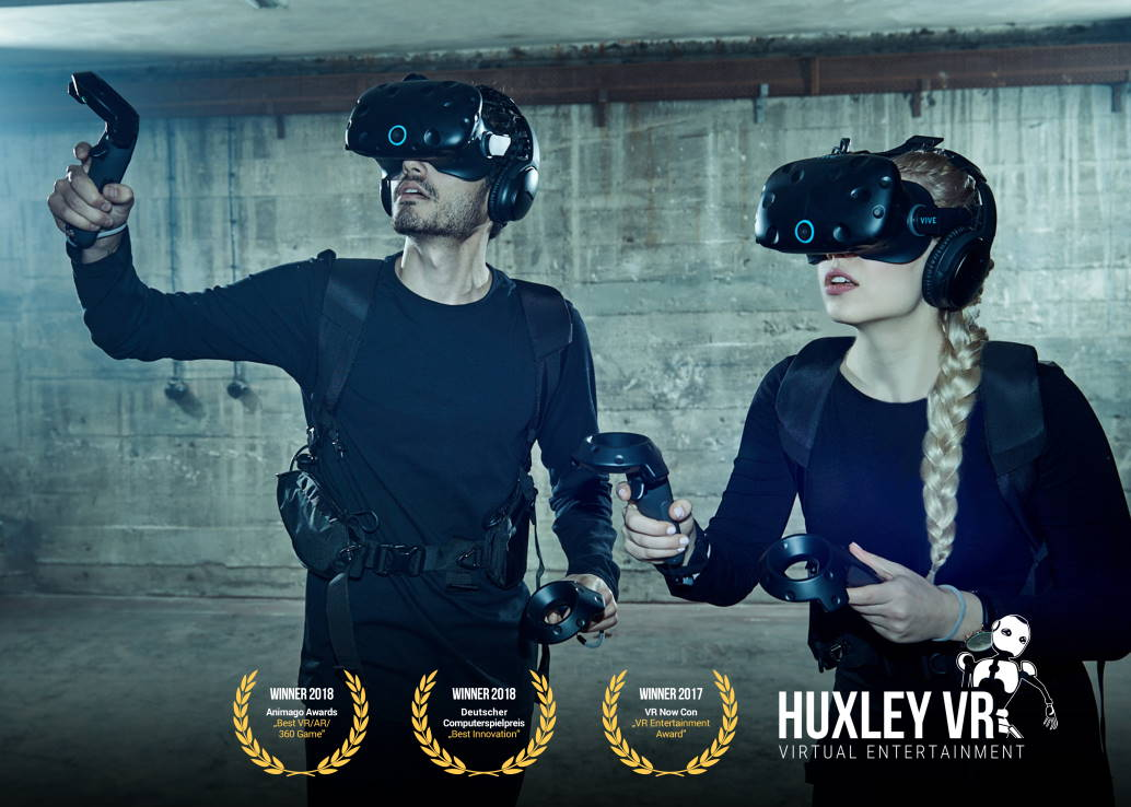 man and woman in virtual reality gear exploring